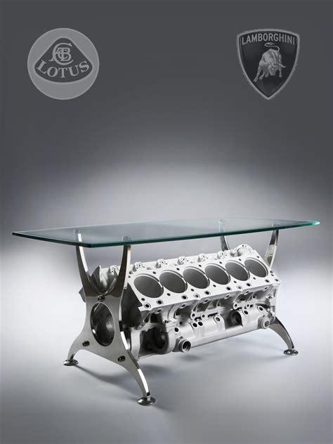 V12 Engine Coffee Table Engine Block Table Lotus Lamborghini F1 V12 Engine Coffee Table