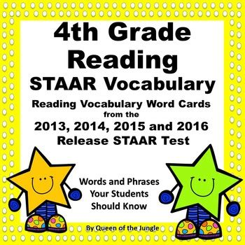 Fourth Grade Staar Writing Test Teaching Staar Writing To Quot At Risk Quot 4th Graders by Staar Reading Vocabulary 4th Grade By Of The Jungle Tpt