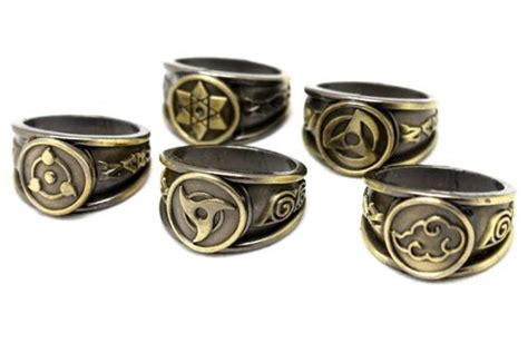 Ring Akatsuki Set nuoya001 new 10xpcs black akatsuki ring set sasori itachi hidan deidara buy in
