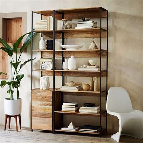 industrial bookshelf industrial modular 33 quot bookshelf west elm
