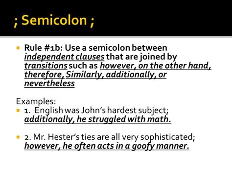 semicolon use exle semicolon use exle semicolon