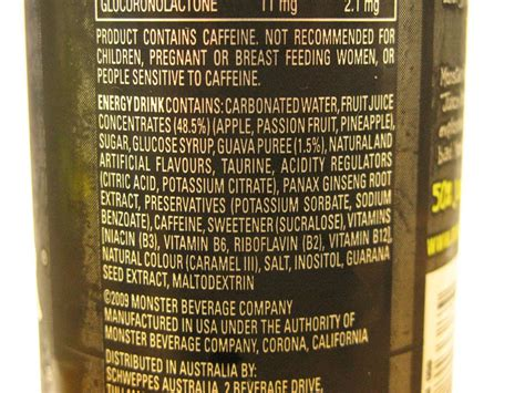energy drink ingredients energy drink ingredients list pictures to pin on