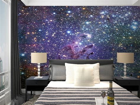 starry bedroom mural starry sky background 3d 3d wallpaper murals nebula
