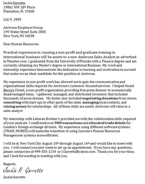 business development professional cover letter