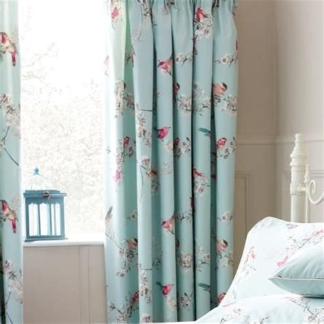 curtains with birds on them duck egg beautiful birds thermal pencil pleat curtains