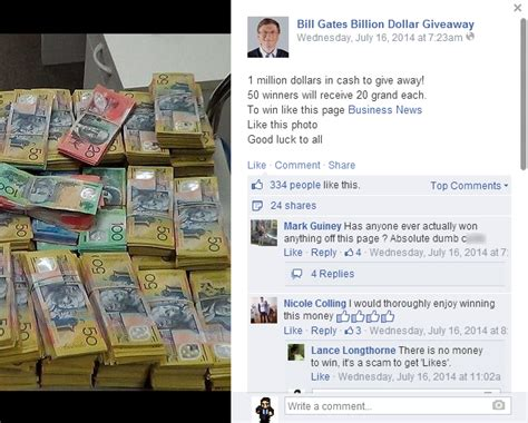 Bill Gates Facebook Money Giveaway - 5 ways to spot social media scams rogue apps