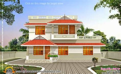 double storied house 13 lakhs kerala home design and kerala style low cost double storied home kerala home