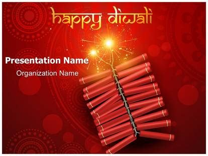 Crackers Diwali Festival Powerpoint Template Background Subscriptiontemplates Com Festive Powerpoint Templates