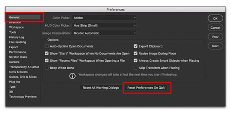 how to reset toolbar in photoshop adobe photoshop resetting defaults on the options bar