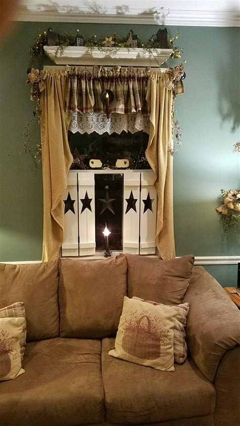 primitive curtains for living room best 25 country curtains ideas on pinterest rustic