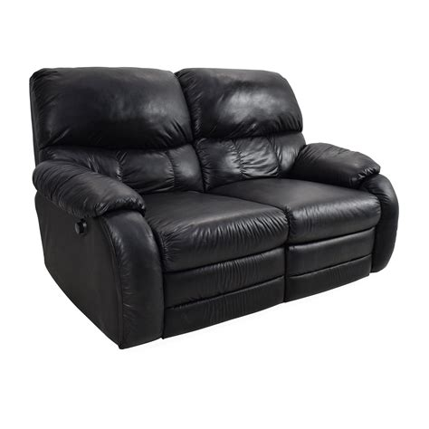 second hand 2 seater leather sofa 68 off black leather reclining 2 seater sofas
