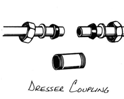 Dresser Coupling Installation by Leak In Galvanized Pipe