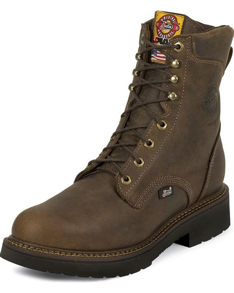 justin steel toe lace up boots justin j max rugged gaucho 8 quot lace up work boots steel