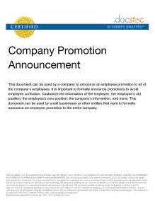 promotion announcement template best photos of promotion announcement exles