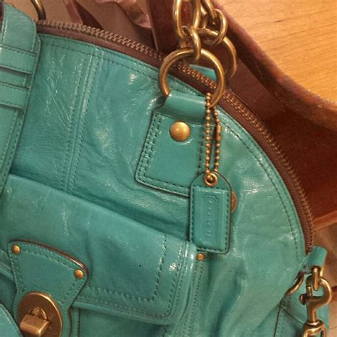 Bag Alert Patent Francine By Coach by 72 Coach Handbags Reducedcoach Turquoise Patent