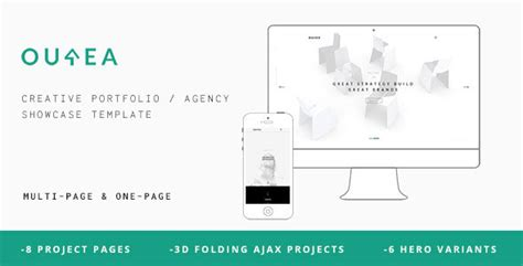 template after effects portfolio ourea creative portfolio agency template free download