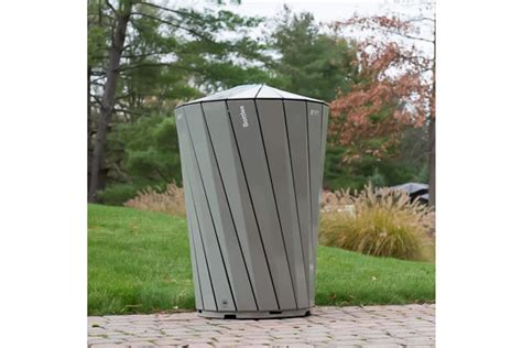 Landscape Forms Trash Receptacle Landscape Forms Helps Create Recycling Receptacles For