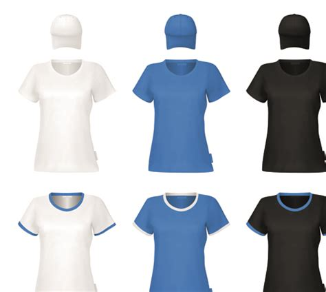 free design uniform colorful t shirts and caps uniform vector template 06