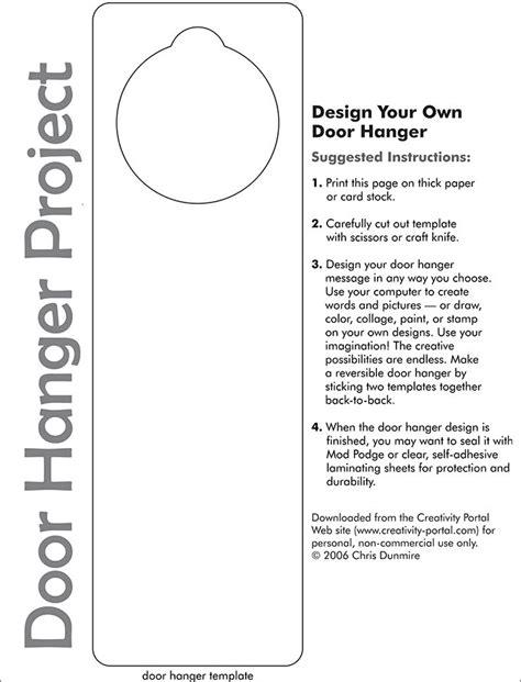 Door Hanger Template For Word Print Runnerswebsite 4 25 X 11 Door Hanger Template