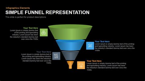 simple funnel representation powerpoint keynote template
