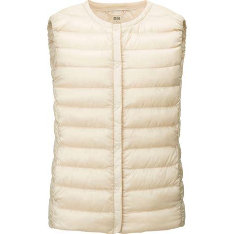 ultra light down vest uniqlo women ultra light down compact vest in beige off