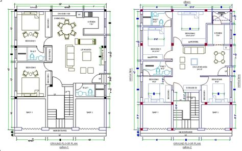 2nd Floor House Plan by House Design Autocad 3d Cad Model Grabcad
