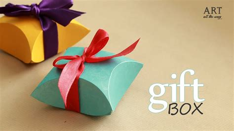 how to make gift box easy diy arts and crafts