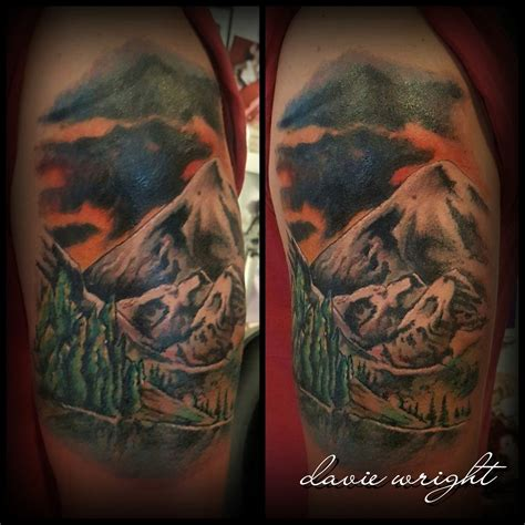 mountain scene tattoo mountain the wright ink cramlington studio
