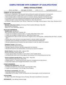 Resume Summary Of Qualifications Exle by How To Write A Resume Summary That Grabs Attention Best Business Template
