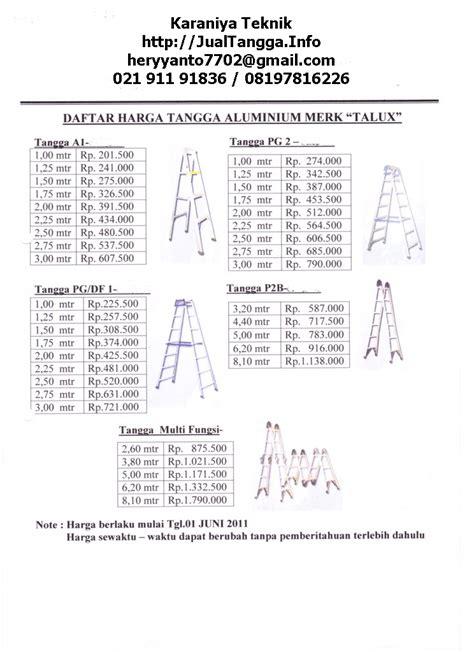 Tangga Lipat Type Carena tangga talux tangga lipat aluminium fiberglass