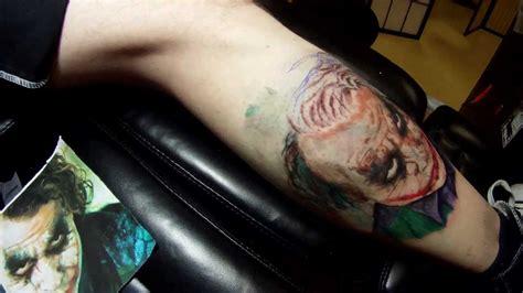 joker tattoo youtube aaron beaudette time lapse full color portrait of heath