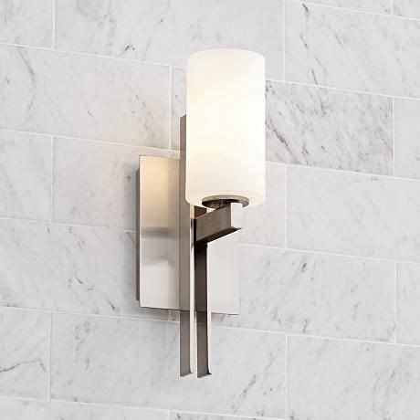 Possini Bathroom Lighting Possini 14 Quot High Ludlow Brushed Nickel Wall Sconce Powder Sconces And Glasses