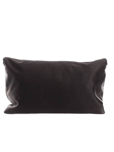 Lanvin Satin Evening Bag by Louise Lanvin Black Silk Satin Evening Bag With