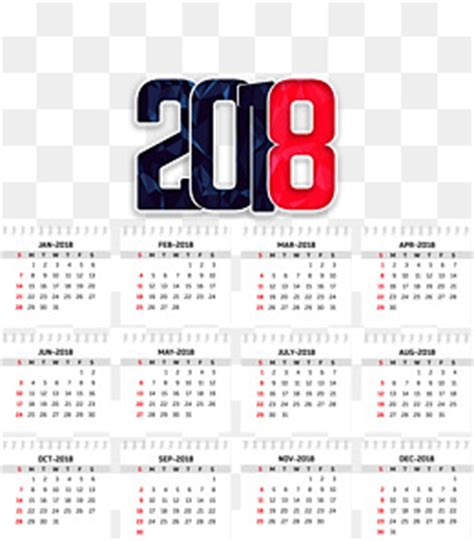 Calendar 2018 Png File Calendar 2018 Png Vectors Psd And Icons For Free