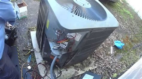 fan motor for ac unit goodman 5 ton ac unit with bad condenser fan motor youtube