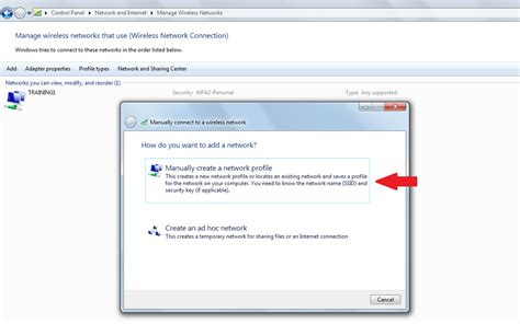 connect to how to manually add a wireless network in windows 7 and