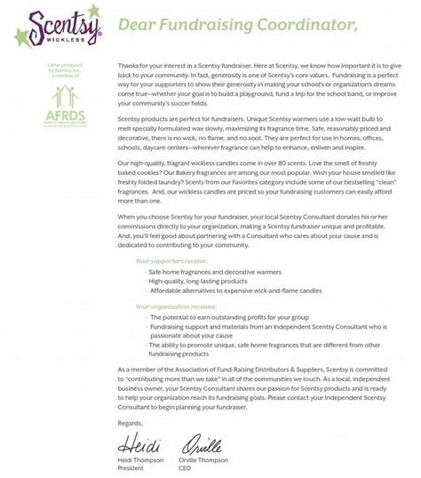 Fundraising Letter Raffle Prize Fundraiser Letter From Sybil Bralley Scentsy Independent Consultant In Concord Nc 28027
