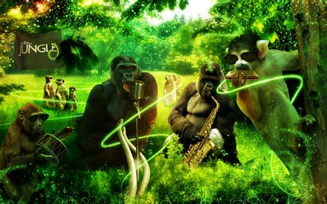 wallpaper 3d jungle jungle animals wallpaper wallpapersafari