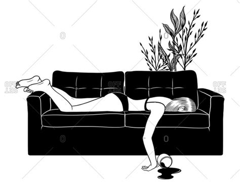 spilled coffee on couch artist henn kim stock photos offset