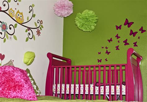 full pink color girl baby room ideas decorate a beauty full life bird and owl themed nursery for baby