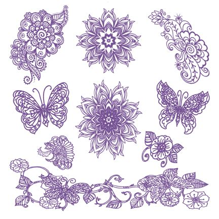 indigo henna tattoo indigo henna assortment tattooforaweek stick on