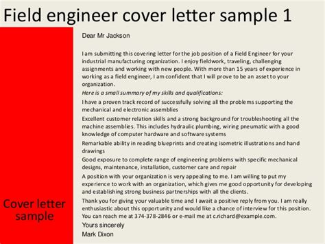 Intel Component Design Engineer Cover Letter by Field Engineer Cover Letter