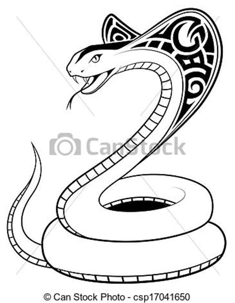 clipart vectorial de tatuaje serpiente vector tribal