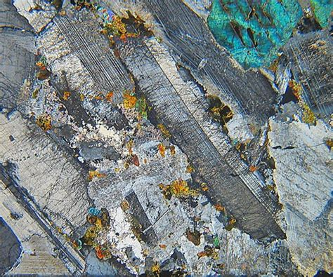 ardnamurchan eucrite gabbro thin section microscope slide