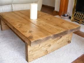 Coffee table rustic chunky handmade solid wood ebay