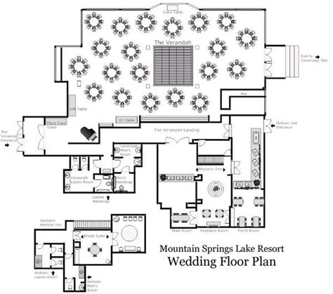 floor plan wedding the verandah room event space is the venue mountain springs lake