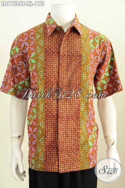 Hem Batik Tulis Pendek F60417022bru Kemeja Batik Terbaru Murah baju hem batik di jual kemeja batik pria terkini model lengan pendek motif