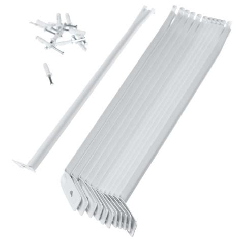 closetmaid 16 inch shelf support brackets white 12 pack