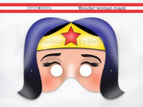 printable woman mask wonder woman mask party and party masks on pinterest