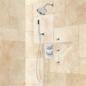 hinson shower system with shower and sprays